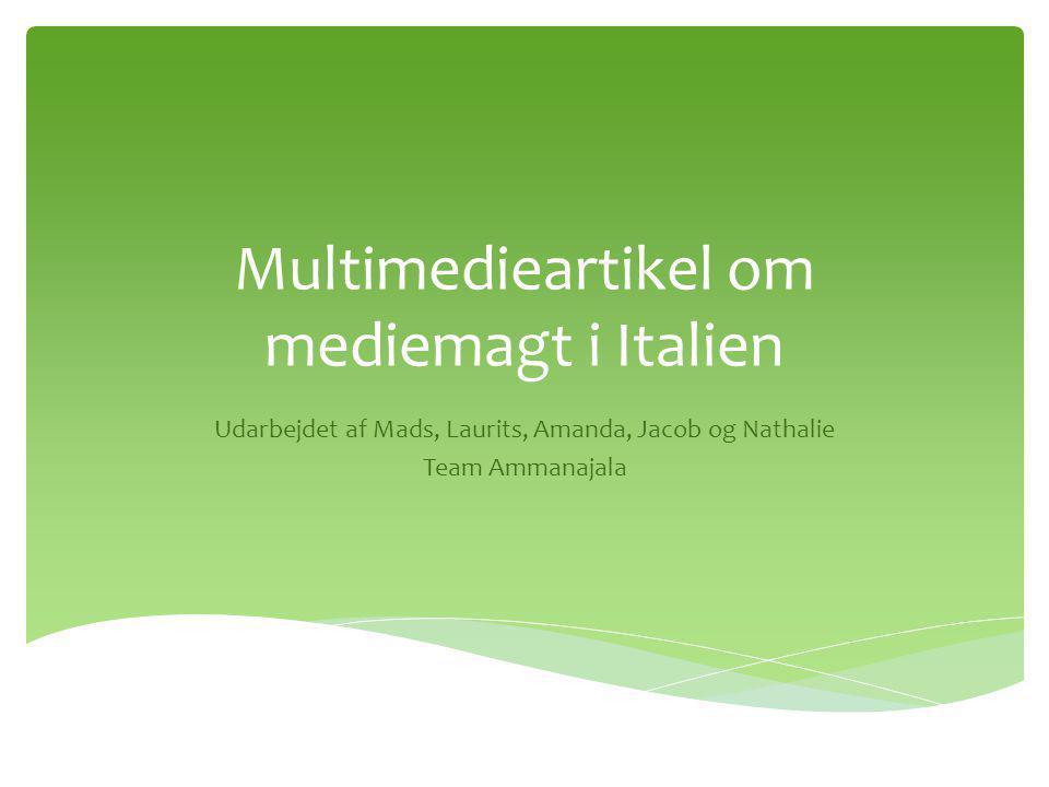 Multimedieartikel om mediemagt i Italien