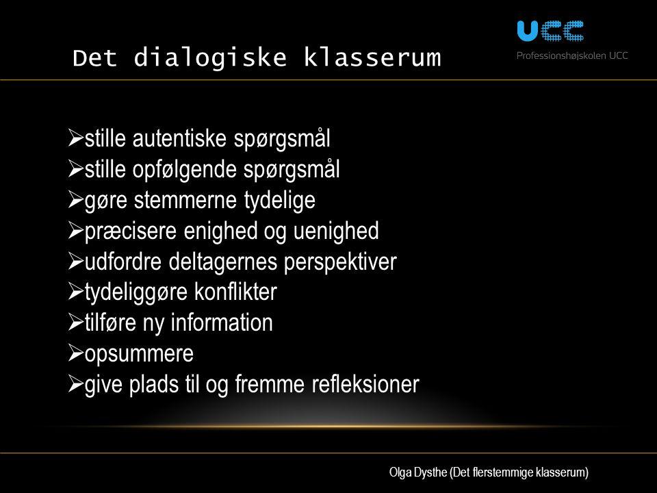 Olga Dysthe (Det flerstemmige klasserum)