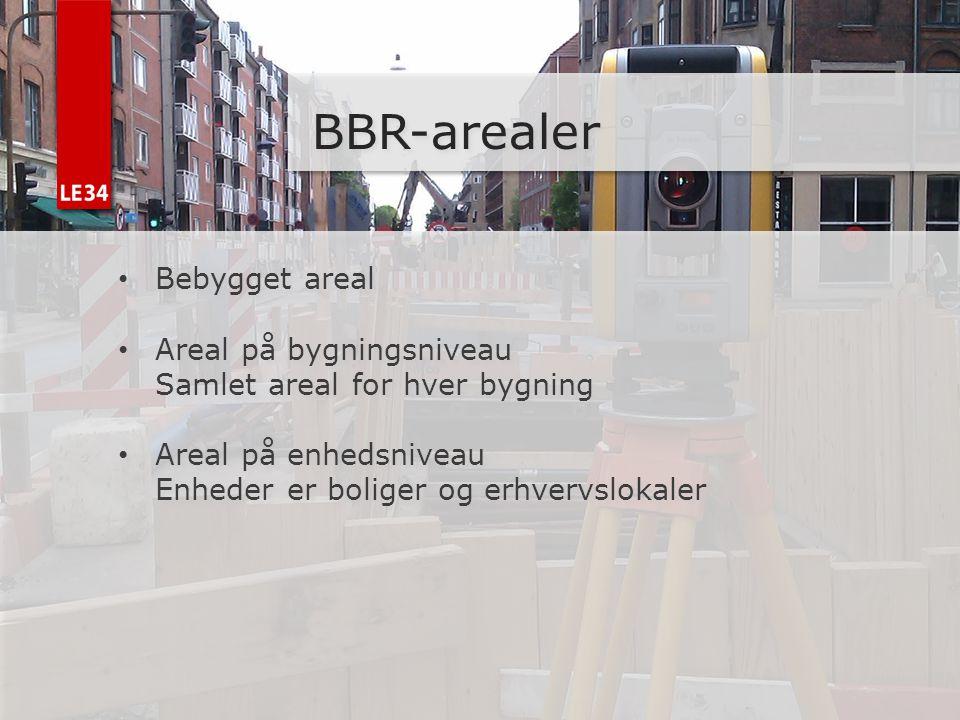 BBR-arealer Bebygget areal Areal på bygningsniveau