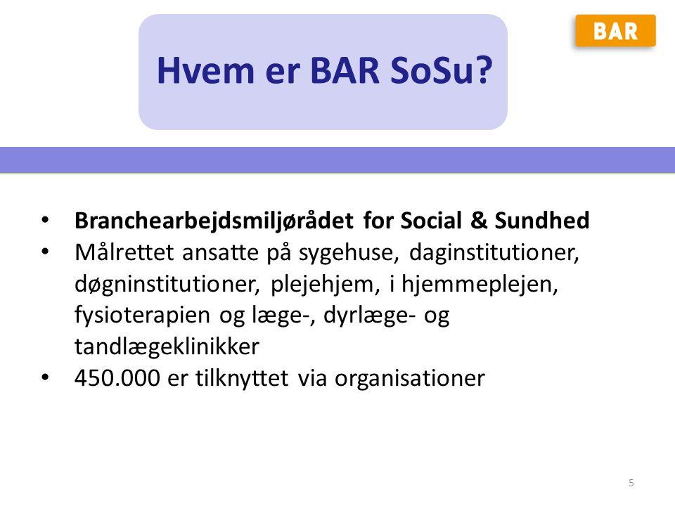 Hvem er BAR SoSu Branchearbejdsmiljørådet for Social & Sundhed