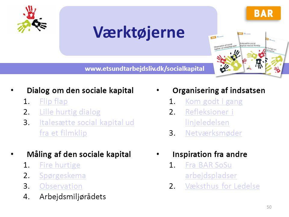 Værktøjerne Dialog om den sociale kapital Flip flap