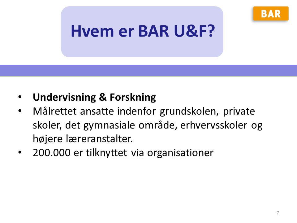 Hvem er BAR U&F Undervisning & Forskning