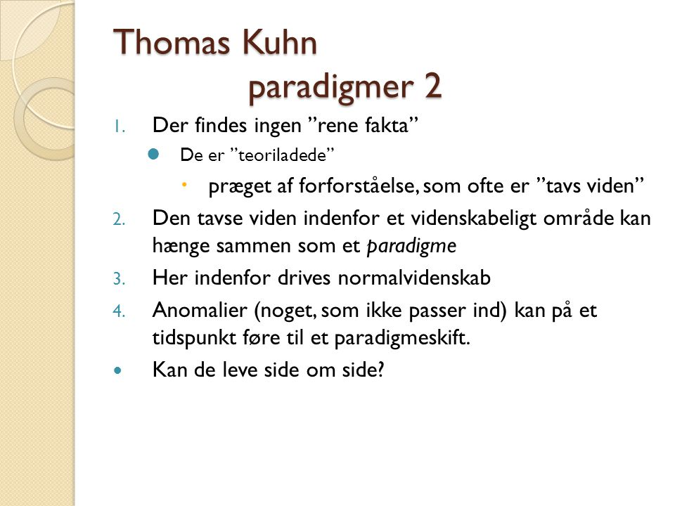 Thomas Kuhn paradigmer 2