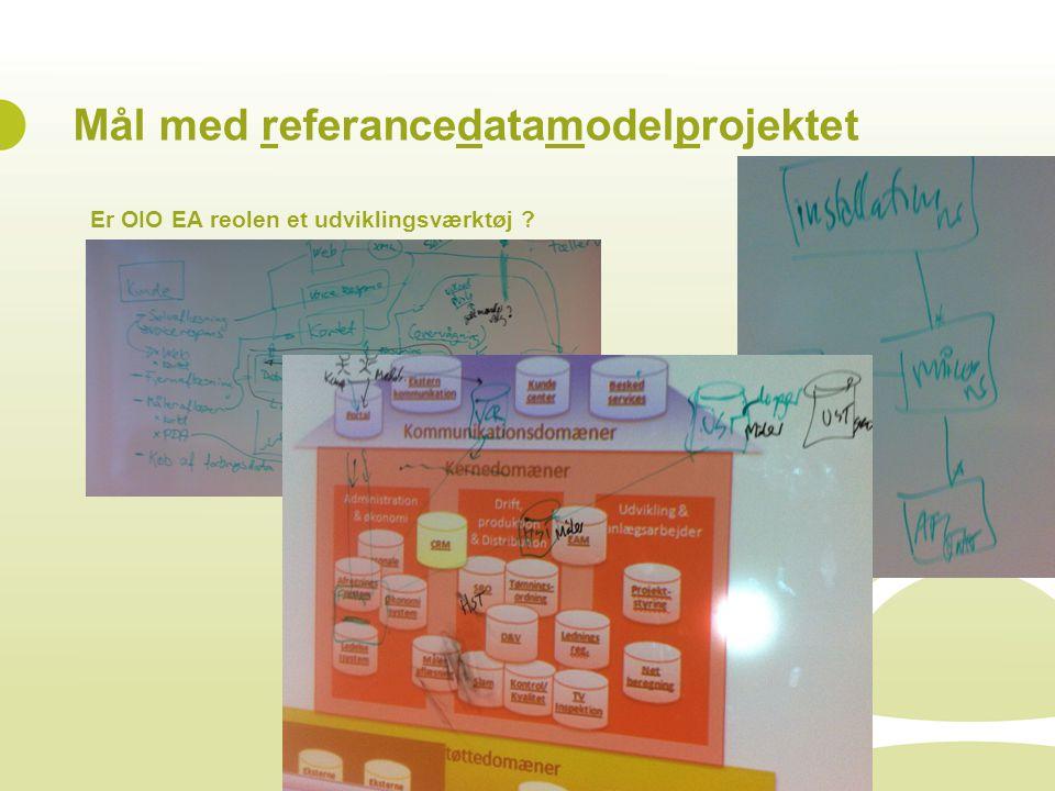 Mål med referancedatamodelprojektet
