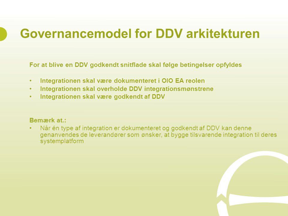 Governancemodel for DDV arkitekturen