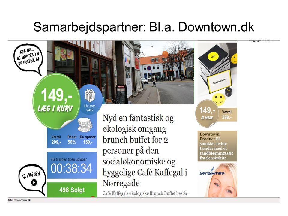 Samarbejdspartner: Bl.a. Downtown.dk