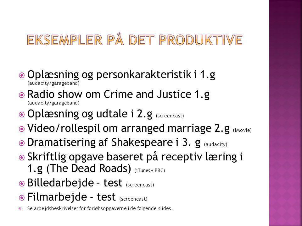 Eksempler på det produktive