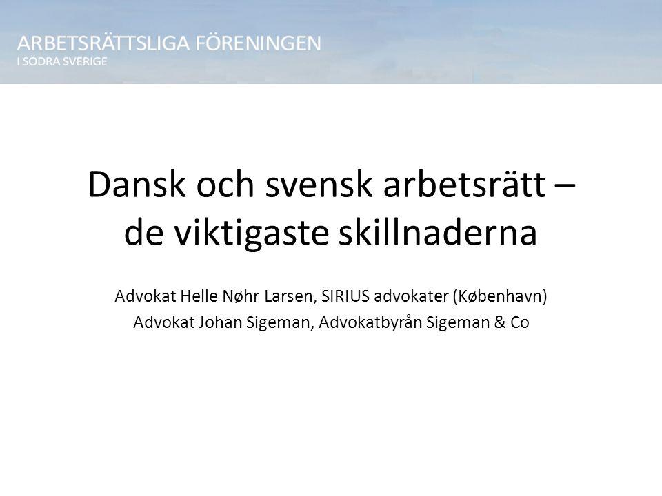 Dansk och svensk arbetsrätt – de viktigaste skillnaderna