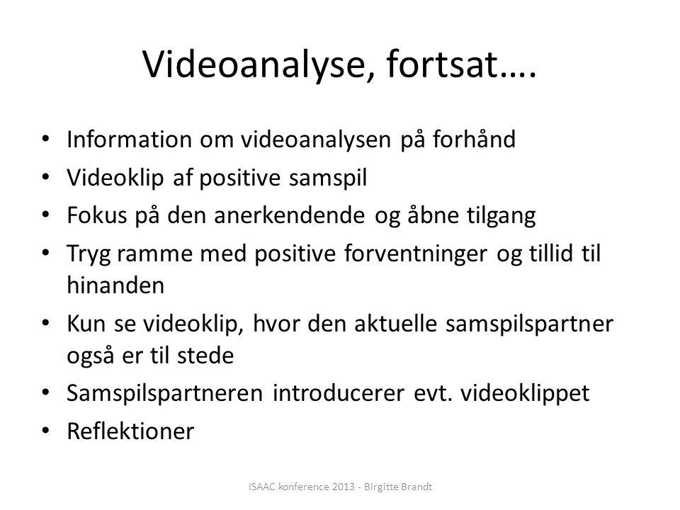 Videoanalyse, fortsat….