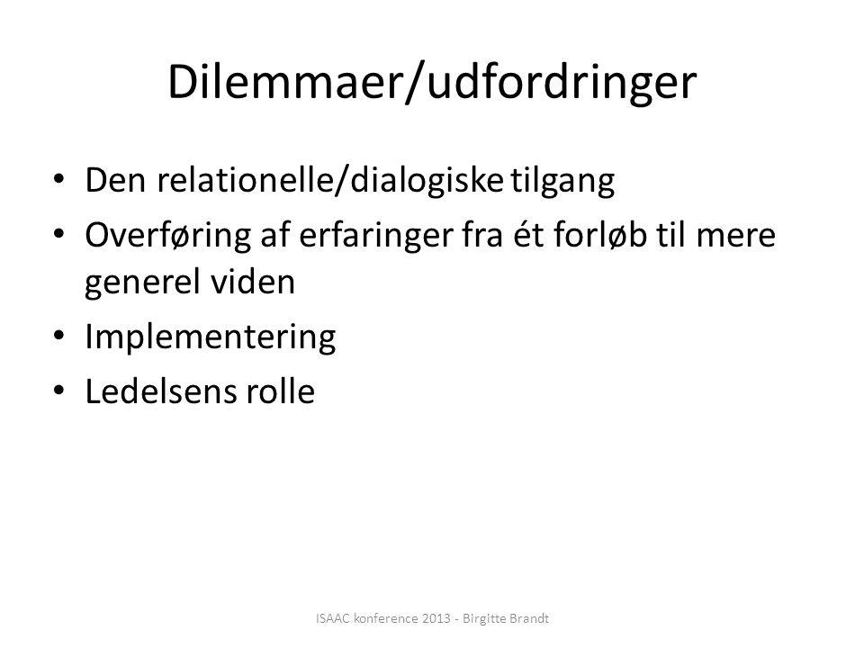 Dilemmaer/udfordringer