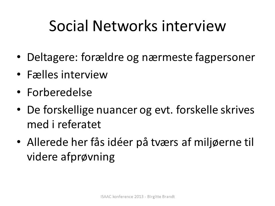 Social Networks interview