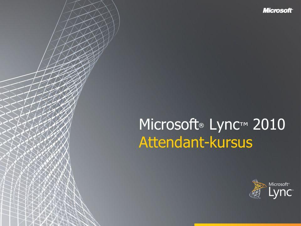 Microsoft® Lync™ 2010 Attendant-kursus