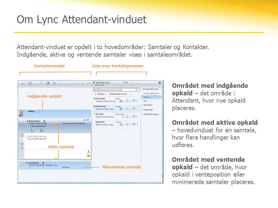 Om Lync Attendant-vinduet