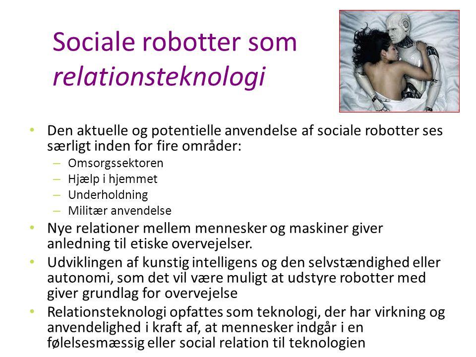 Sociale robotter som relationsteknologi