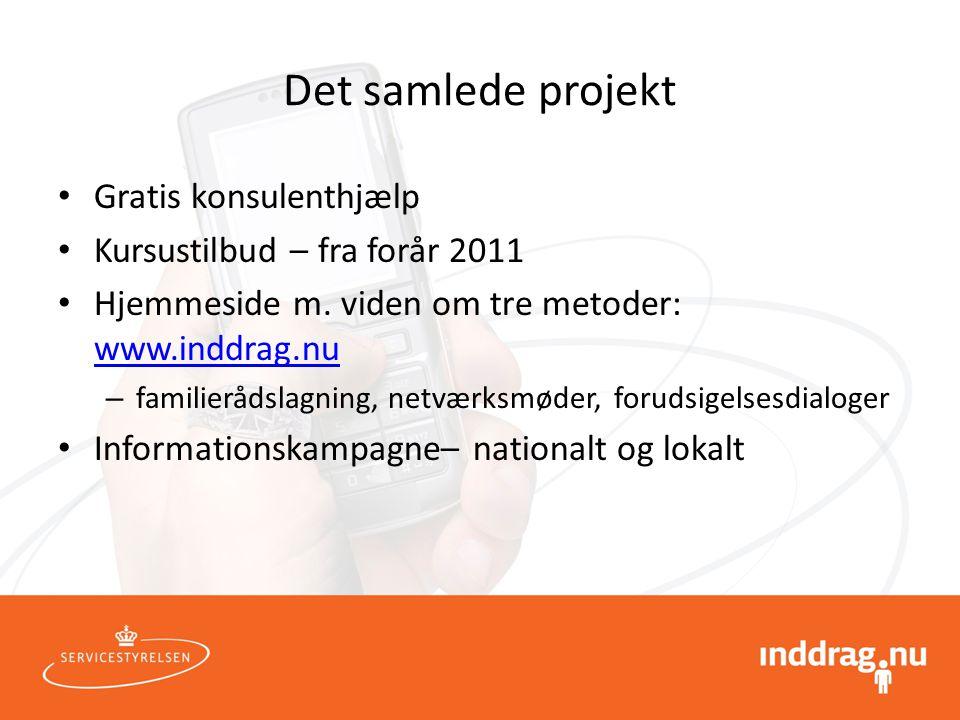 Det samlede projekt Gratis konsulenthjælp