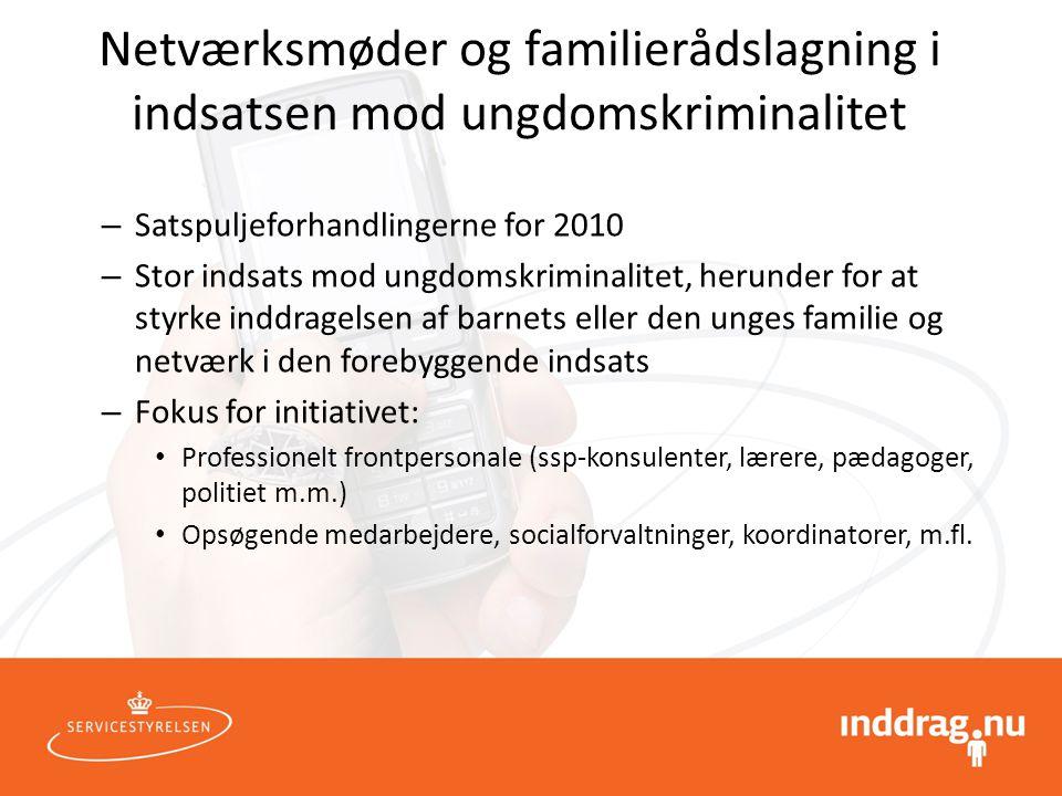 Netværksmøder og familierådslagning i indsatsen mod ungdomskriminalitet