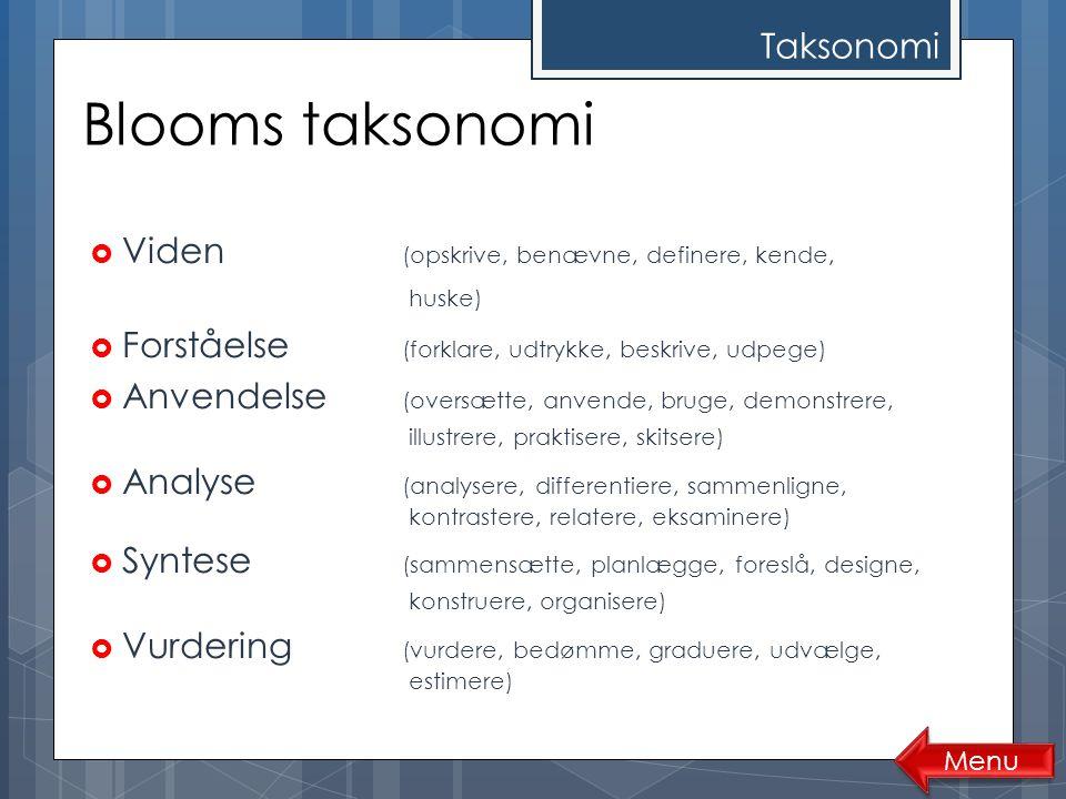 Blooms taksonomi Taksonomi
