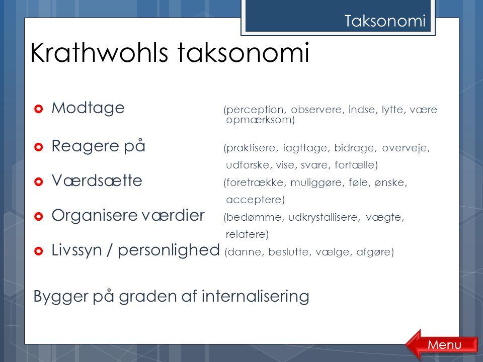 Krathwohls taksonomi Taksonomi