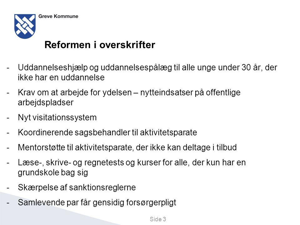 Reformen i overskrifter