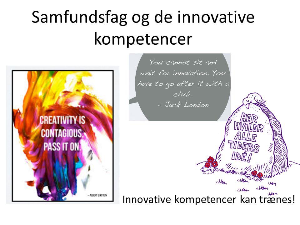 Samfundsfag og de innovative kompetencer