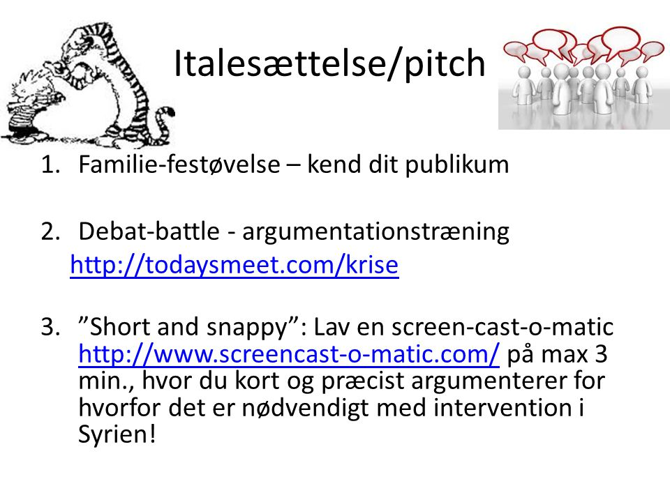 Italesættelse/pitch Familie-festøvelse – kend dit publikum
