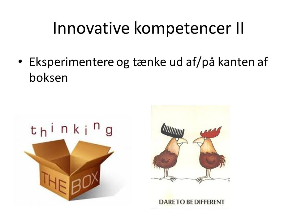 Innovative kompetencer II
