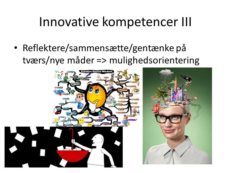 Innovative kompetencer III