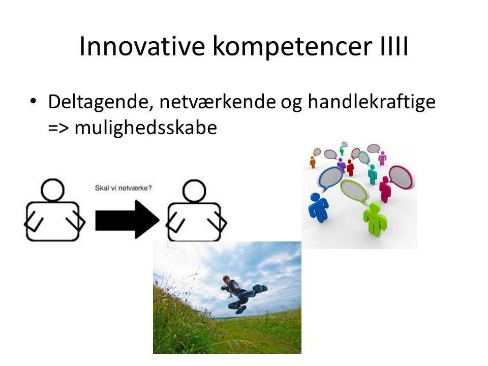 Innovative kompetencer IIII