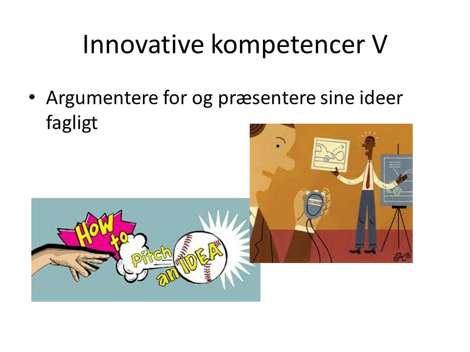 Innovative kompetencer V