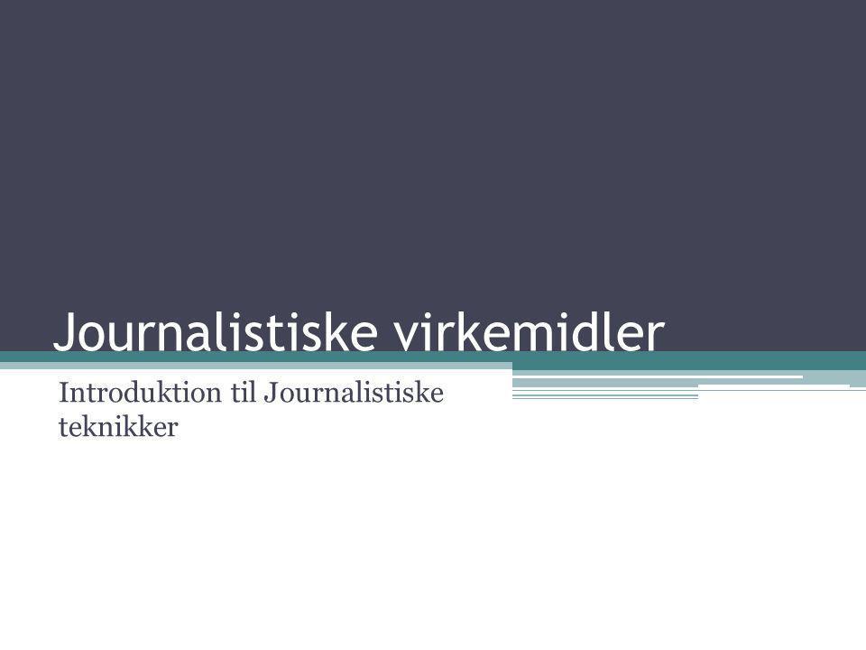 Journalistiske virkemidler