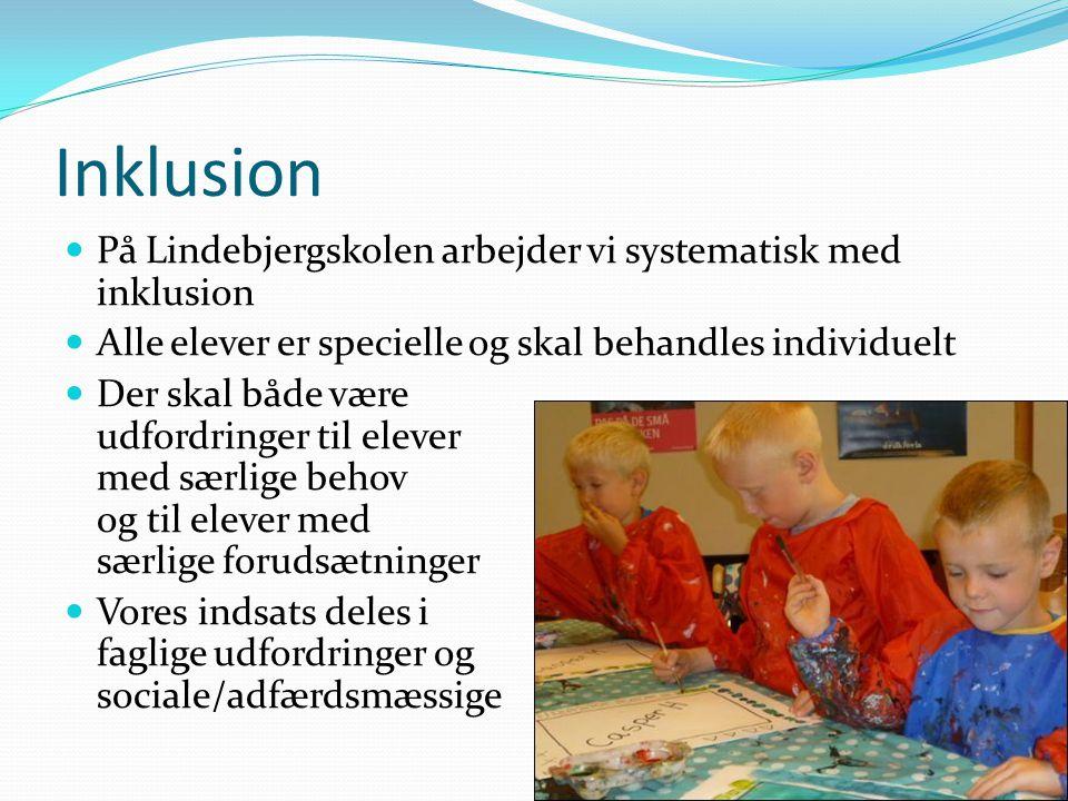 Inklusion På Lindebjergskolen arbejder vi systematisk med inklusion