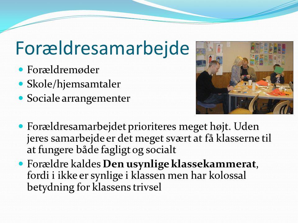 Forældresamarbejde Forældremøder Skole/hjemsamtaler
