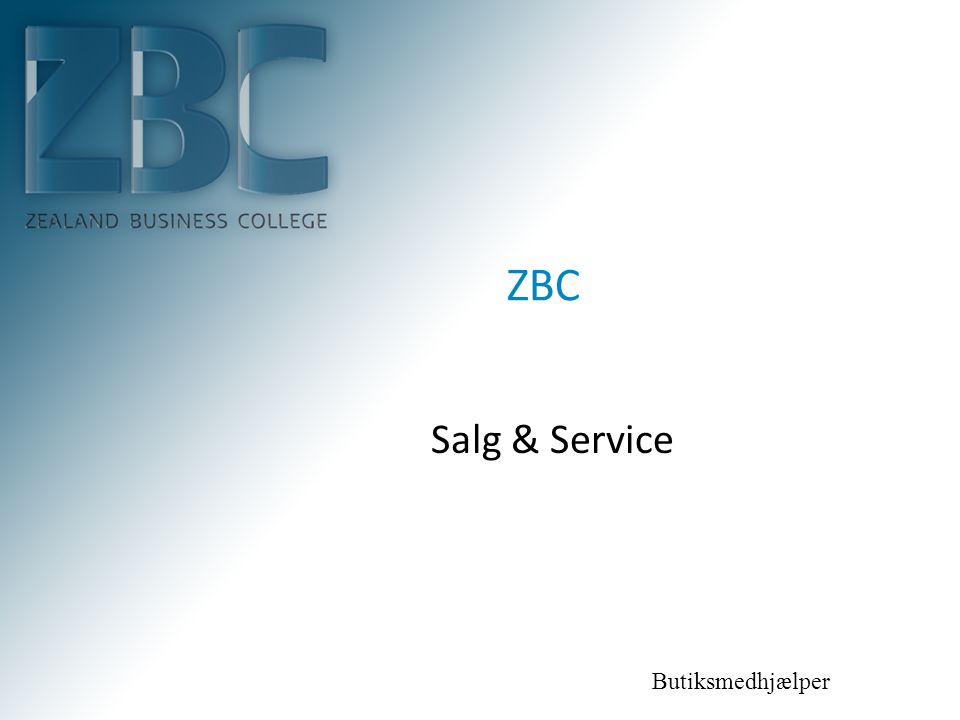 ZBC Salg & Service Butiksmedhjælper