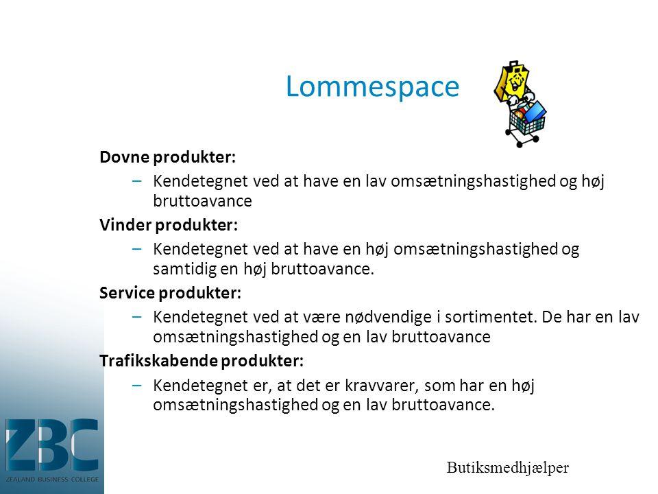 Lommespace Dovne produkter: