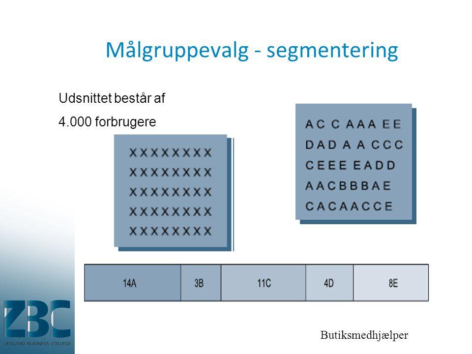 Målgruppevalg - segmentering