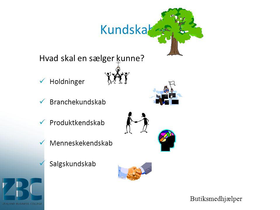 Kundskabens træ Hvad skal en sælger kunne Holdninger Branchekundskab