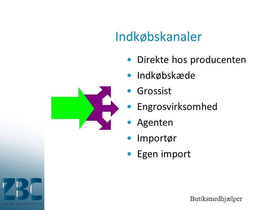Indkøbskanaler Direkte hos producenten Indkøbskæde Grossist