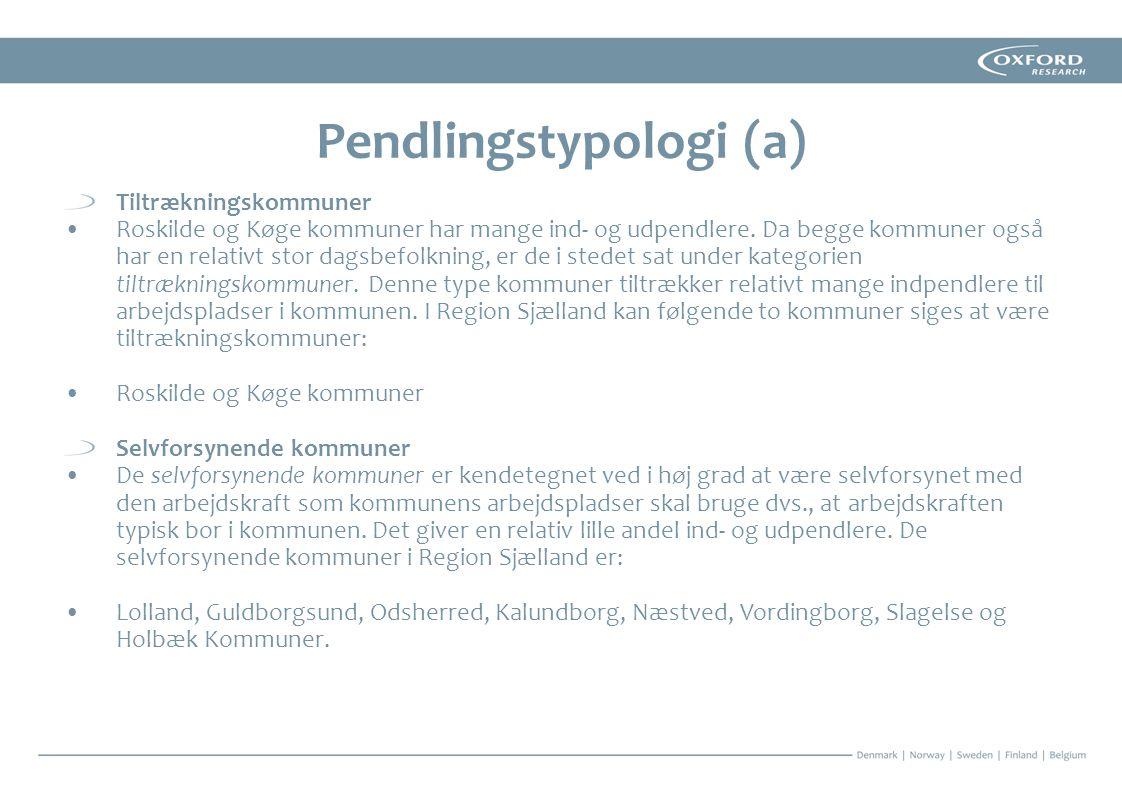 Pendlingstypologi (a)