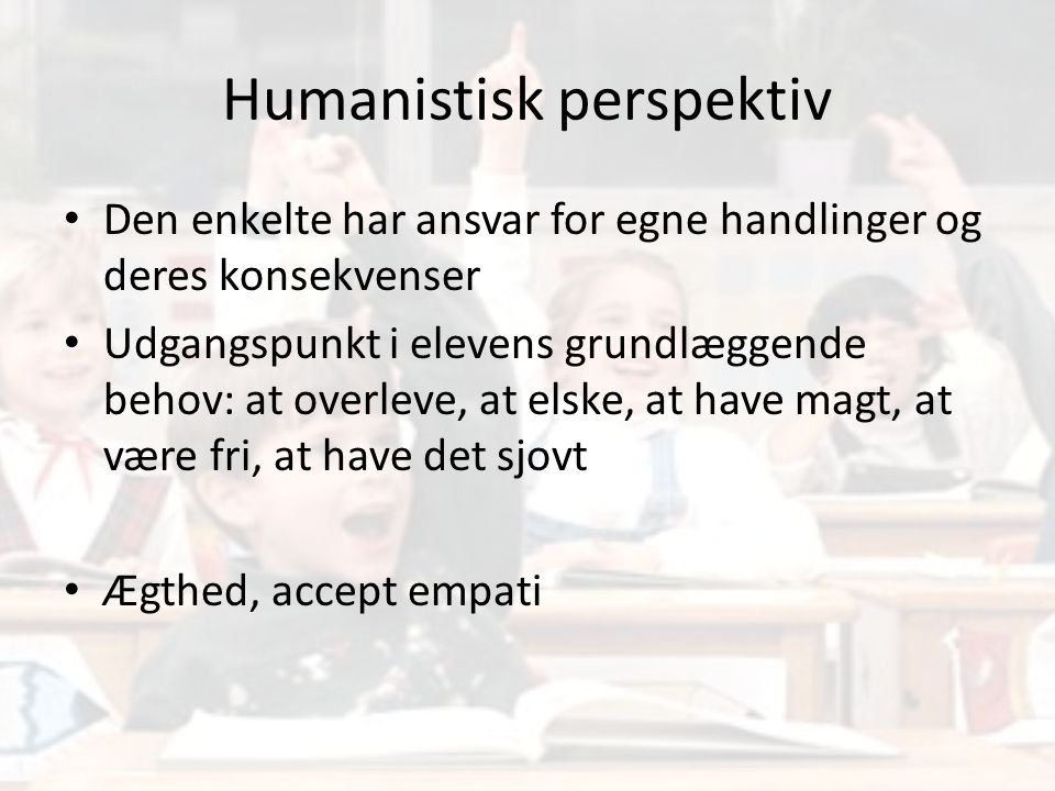 Humanistisk perspektiv