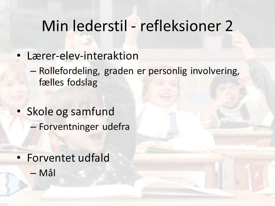 Min lederstil - refleksioner 2