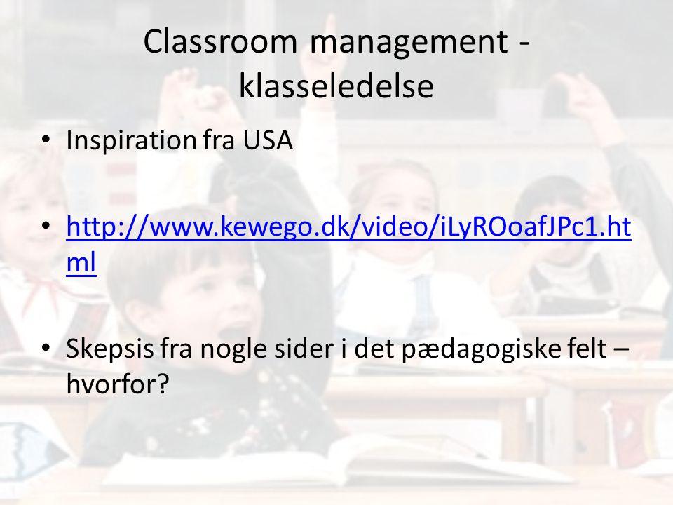 Classroom management - klasseledelse