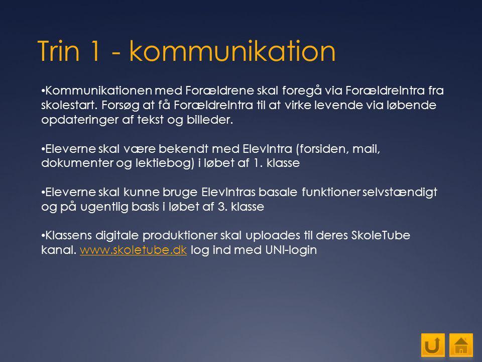 Trin 1 - kommunikation