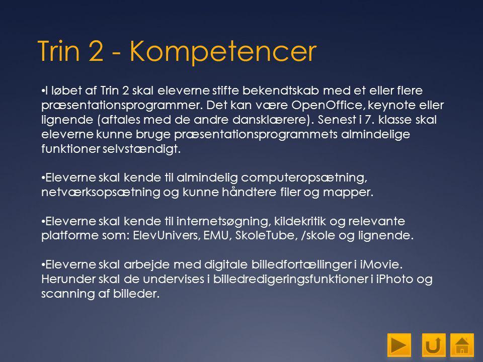 Trin 2 - Kompetencer