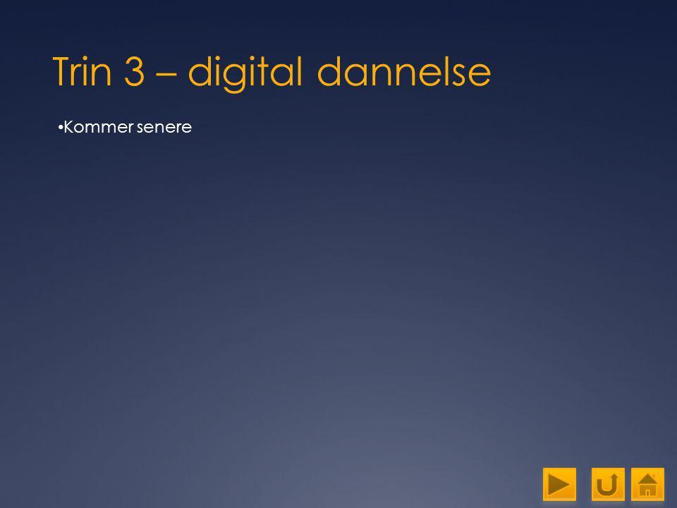 Trin 3 – digital dannelse
