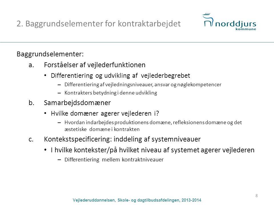 2. Baggrundselementer for kontraktarbejdet