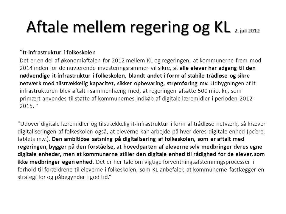 Aftale mellem regering og KL 2. juli 2012