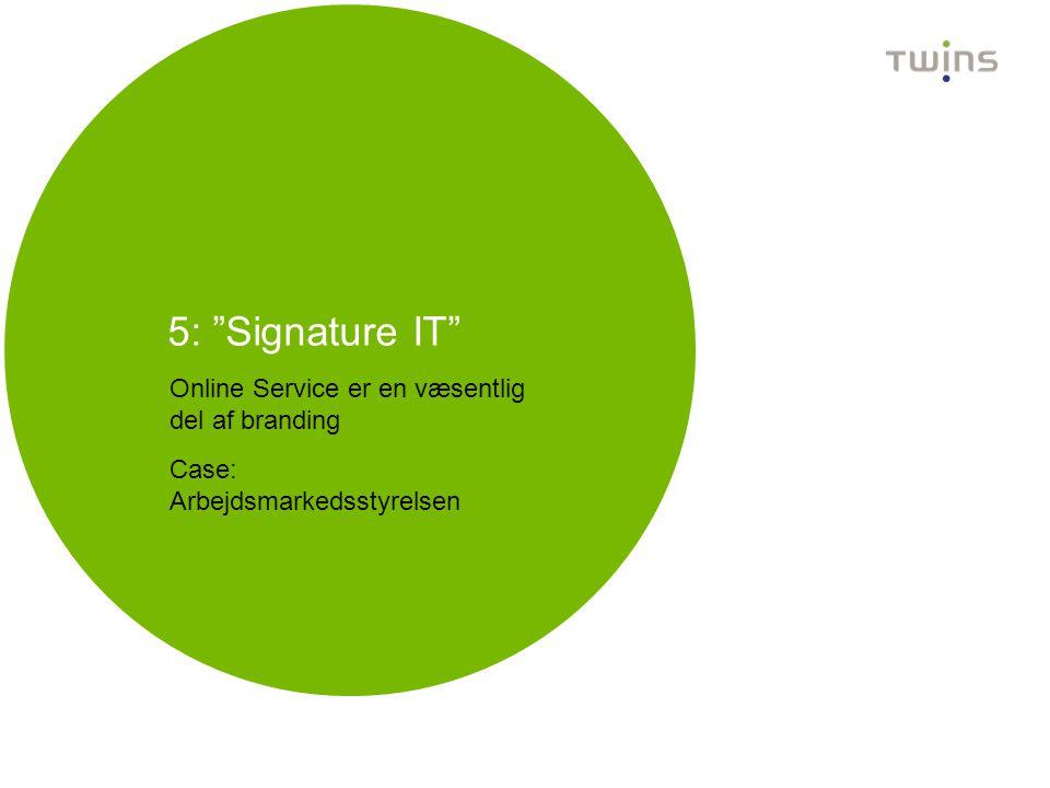 5: Signature IT Online Service er en væsentlig del af branding