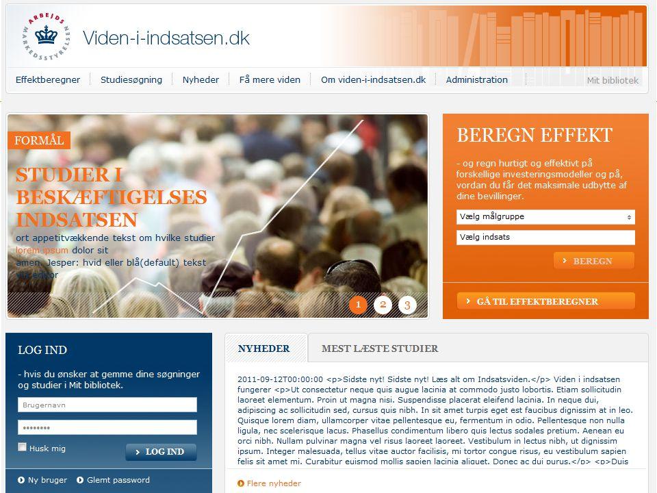 Viden I indsatsen.dk (arbejdstitel)