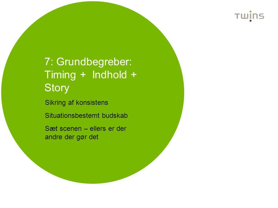 7: Grundbegreber: Timing + Indhold + Story
