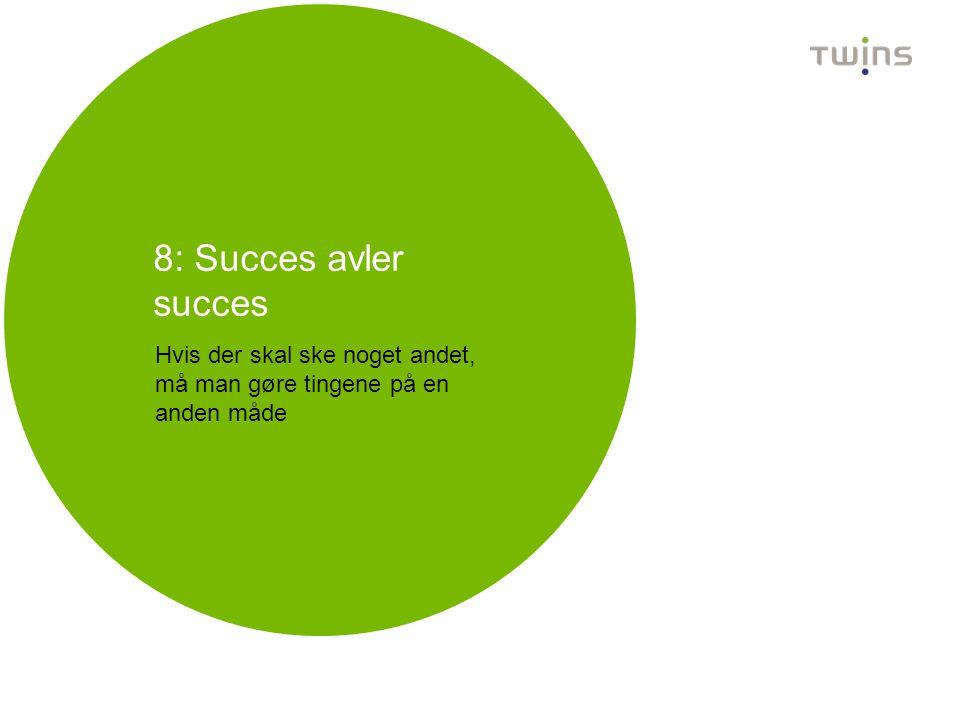 8: Succes avler succes Hvis der skal ske noget andet, må man gøre tingene på en anden måde